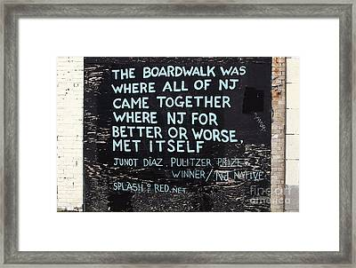 Where All Of Nj Came Together Framed Print by John Rizzuto