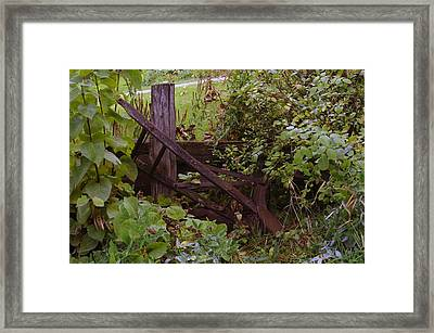 Where An Old Plow Rests  Framed Print