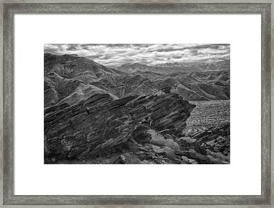 Where Andreas Meets Murray Bw 1 Framed Print by Scott Campbell