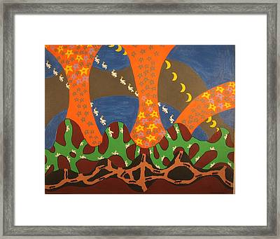 Where Are The Uncles ? Framed Print by Erika Chamberlin