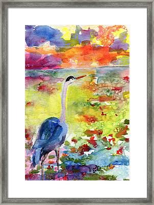 Where Blue Herons Dream Framed Print
