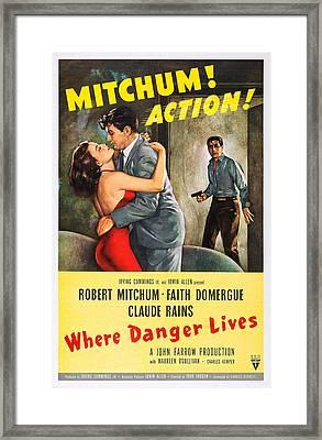 Where Danger Lives, Us Poster Art Framed Print by Everett