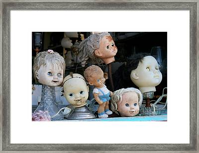 Where Did All The Bodies Go? Framed Print by Kathy Peltomaa Lewis