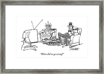 Where Did We Go Wrong? Framed Print by Mischa Richter