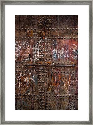 Where Do The Doors In Marrakech Lead? Framed Print