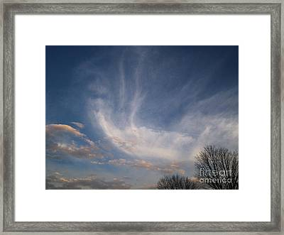 Where Does The Wind Come From Framed Print by Kristine Nora