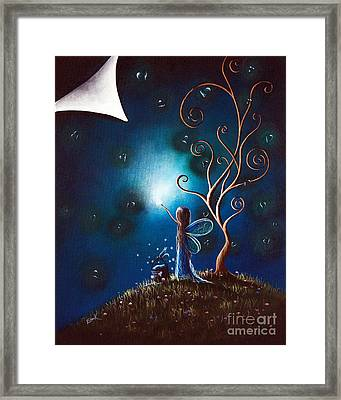 Fairy Art By Shawna Erback Framed Print by Shawna Erback