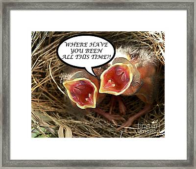 Where Have You Been Greeting Card Framed Print by Al Powell Photography USA