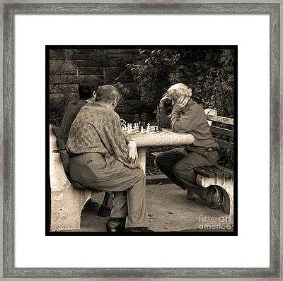Where Is Bobby Fischer Framed Print by Madeline Ellis
