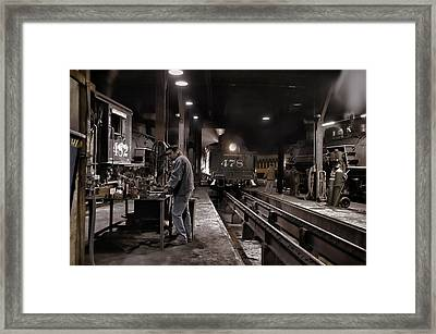 Where Is My Hammer Framed Print by Ken Smith