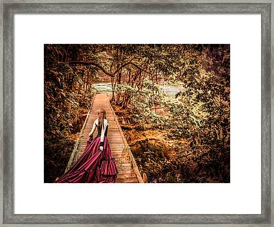 Where Is The Bridge Going? Framed Print by Catherine Arnas