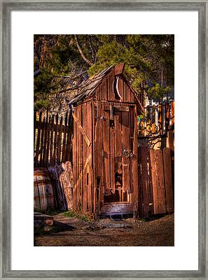 Where Is The Closest Bathroom? Framed Print by David Patterson
