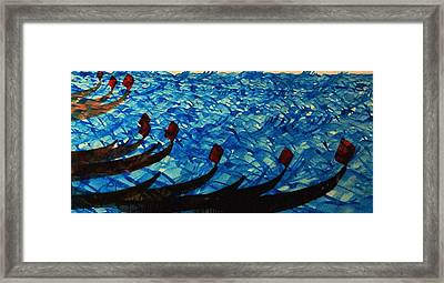 Dramatic Waves Framed Print by Mah FineArt