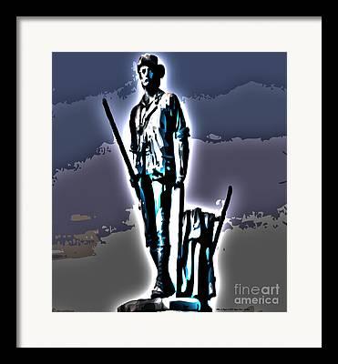 Concord Massachusetts Digital Art Framed Prints