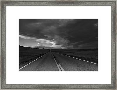 Where It Goes-3 Framed Print by Fran Riley