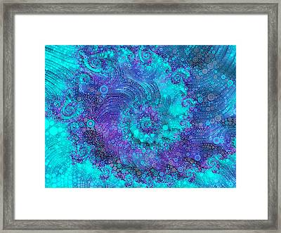 Where Mermaids Play Framed Print by Susan Maxwell Schmidt