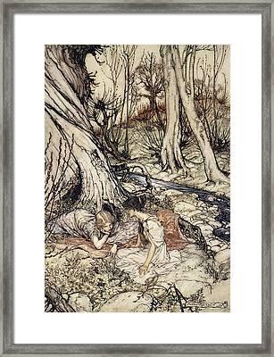 ..where Often You And I Upon Faint Framed Print by Arthur Rackham
