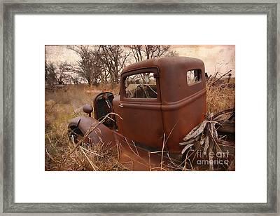 Where Old Trucks Go To Die Framed Print