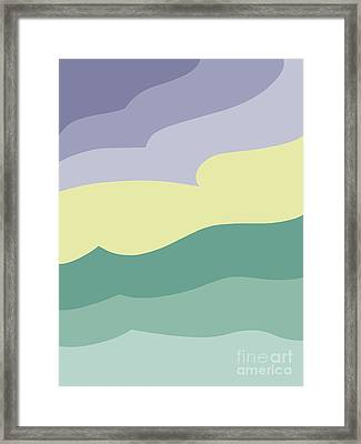 Where Sea Meets Sky Framed Print by Henry Manning