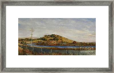 Where The Bay Meets The Hill Framed Print
