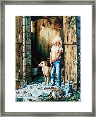 Where The Boys Are Framed Print by Hanne Lore Koehler