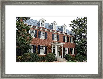 Where The Clintons Live In Washington Framed Print