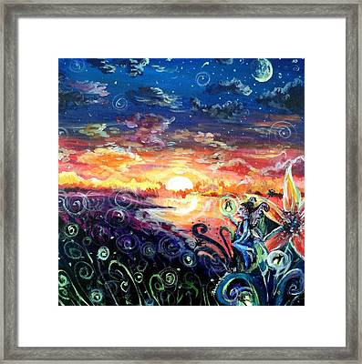 Framed Print featuring the painting Where The Fairies Play by Shana Rowe Jackson
