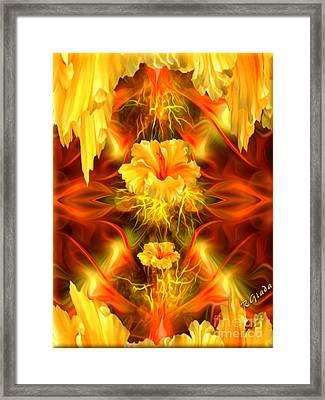 Where The Flowers Go To Pray Framed Print by Giada Rossi