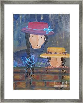 Framed Print featuring the painting Where The Heart Is. by Nereida Rodriguez