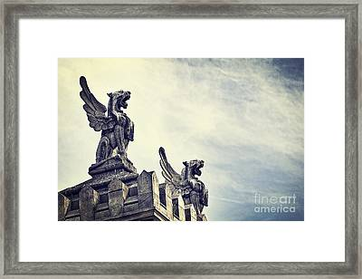 Where The Lions Roar Framed Print by Ivy Ho