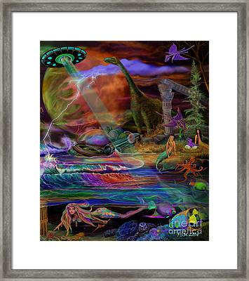 Where The Mermaids Meet Framed Print by Frances McCloskey