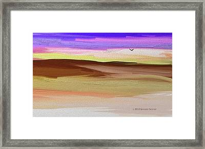 Where The Moon Floats Just Right Framed Print by Lenore Senior