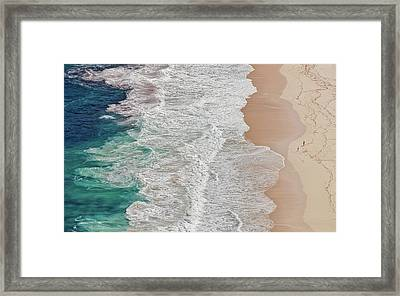 Where The Ocean Ends... Framed Print