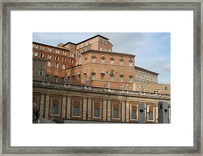 Where The Pope Lives Framed Print by Dick Willis