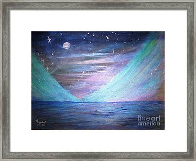 Where The Sky Meets The Sea Framed Print by Betty and Kathy Engdorf and Bosarge