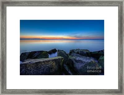 Where The Smooth Meets The Rough Framed Print