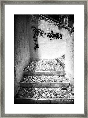 Where The Stairs May Lead Framed Print by John Rizzuto