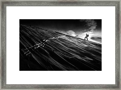 Where The Trail End? Framed Print