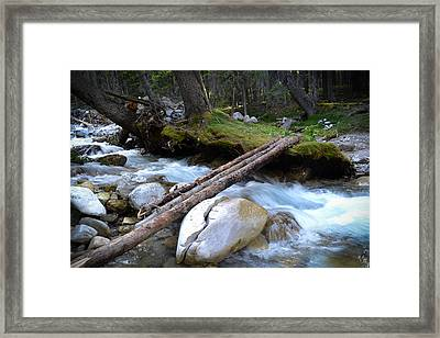 Where The Water Flows Framed Print by Dwayne Schnell