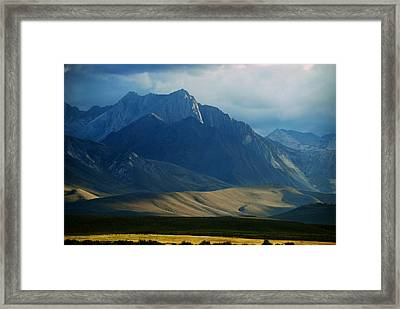 Where The West Commences Framed Print