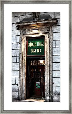 Where The Writers Drink Framed Print by John Rizzuto