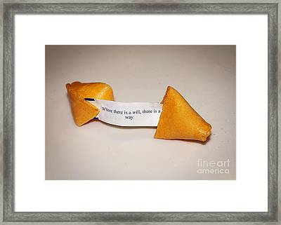 Where There Is A Way Framed Print