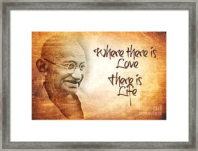 Where There Is Love There Is Life Framed Print by Sophie McAulay