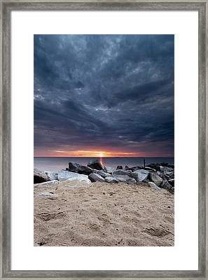 Where There Is Smoke There Is Fire Framed Print by Edward Kreis