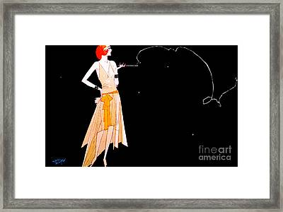 Where There's Smoke 1920 Framed Print by Padre Art