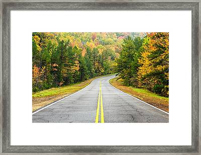 Where This Road Will Take You - Talimena Scenic Highway - Oklahoma - Arkansas Framed Print