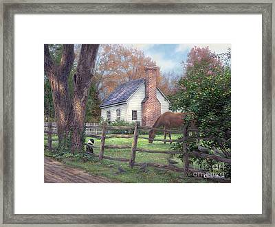 Where Time Moves Slower Framed Print by Chuck Pinson