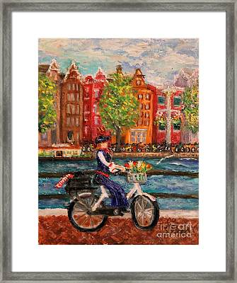 Where To ... Amsterdam Framed Print by Tracey Peer
