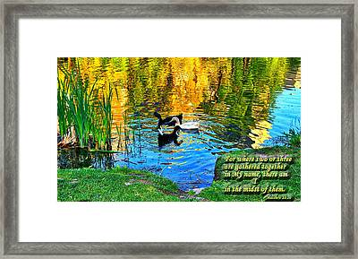 Where Two Or Three Are Gathered2 Framed Print