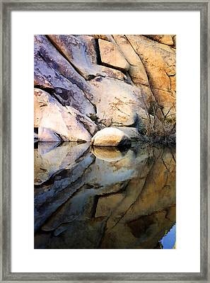Framed Print featuring the photograph Where We Meet by Kathy Bassett